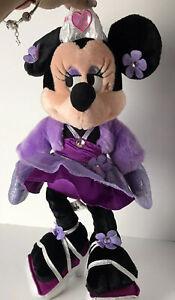 Minnie-Mouse-18-034-Plush-Doll-Purple-Princess-Dress-Disney-Parks-Stuffed-Animal