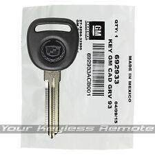 New Oem Factory Cadillac Logo Transponder Key Ignition Chip Circle Plus Uncut
