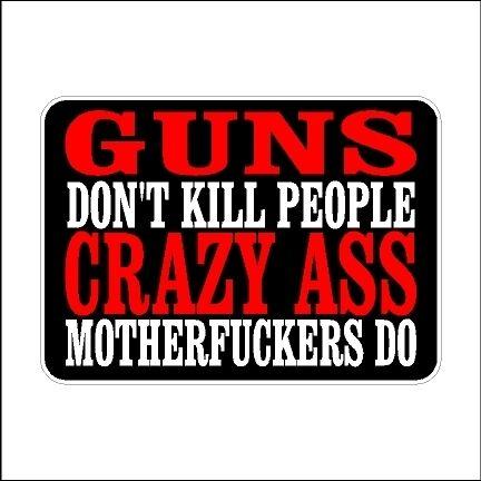 Guns Don/'t Kill People  2nd Amendment Decal Car Sticker Second Amendment