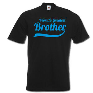 Details About Worlds Greatest BROTHER New Little Big Funny Mens T Shirt Birthday Gift Idea