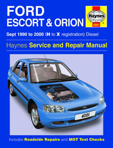 haynes ford escort orion 1 8 1 8td diesel 1990 2000 manual 4081 new rh ebay it ford escort manual steering rack conversion ford escort manual transmission