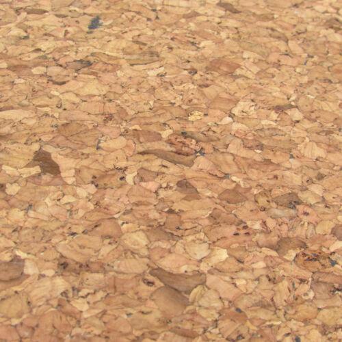 Liège Tissu//liège cuir par 1//4m naturel grain fin avec Dark tachetée