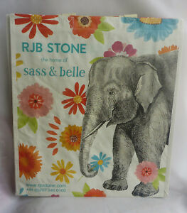 New RJB Stone Sass /& Belle Vintage Map Shopping Bag Foldaway Reusable Shopper