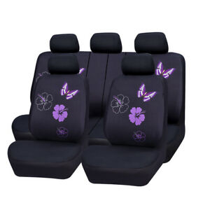 Car-Seat-Covers-Butterfly-For-Women-Girls-Purple-Universal-For-Honda-Toyota-Ford
