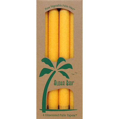 100/% Palm Wax 4 Candles Happiness Violet *Aloha Bay* Unscented Palm Tapers