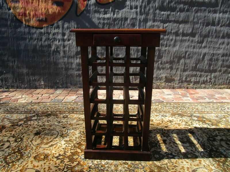 18 Botel Wine holder Sold stained Oregon  with a drawer for bottle openers