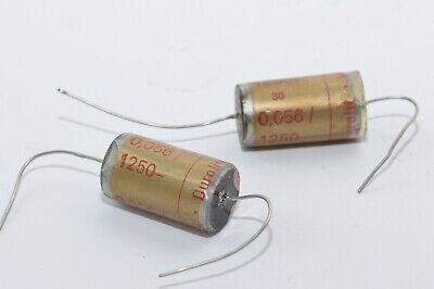 1250 V- Pair of Wima Durolit Vintage Paper Capacitors 0.047 MFD NOS Tube Amp