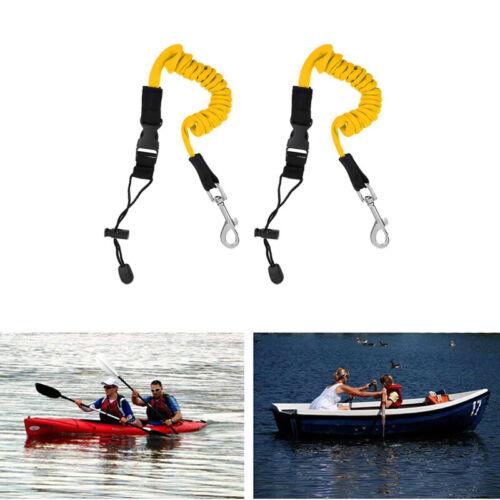 2Pcs Safety Elastic Kayak Paddle Leash Tie Rope Bungee Accessories 1.55M UK