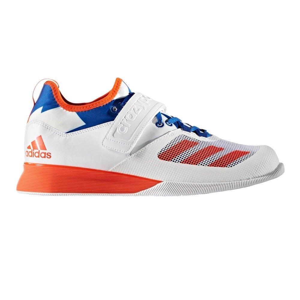 Adidas Para Hombre  Zapatillas de levantamiento de pesas alimentación Loco blancoo Ligero Zapatillas  mejor moda