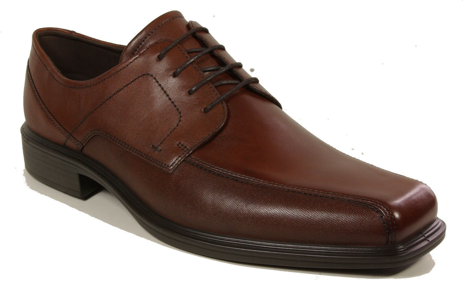 ECCO shoes model JOHANNESBURG lace brown leather NEW