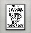 Motivational inspirational quote positive life poster picture print wall art 001