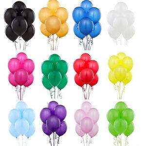 100X-Latex-PLAIN-BALOONS-BALLONS-helium-BALLOONS-Quality-Party-Birthday-Wedding