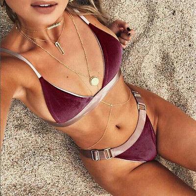 2017Sexy Women Push Up Padded Bra Bikini Set Swimsuit Triangle Swimwear New
