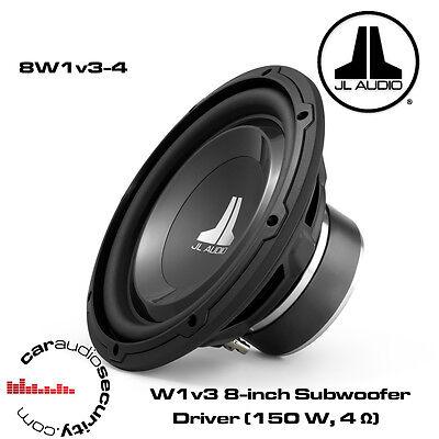 """JL Audio 8/"""" 8W1v3-4 coche Subwoofer 8/"""" 20cm 4 Ohm 150w RMS"""