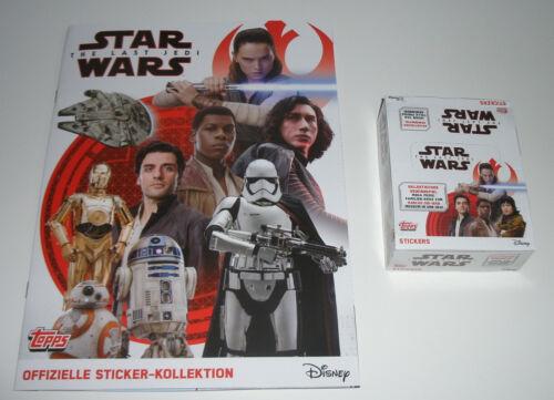 1 x display//30 Sacchetti TOPPS Star Wars Sticker gli ultimi cavalieri Jedi-album