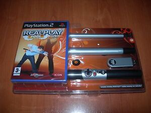 REALPLAY-POOL-PS2-MINIPALO-DE-BILLAR-INALAMBRICO-PAL-ESPANA-PRECINTADO