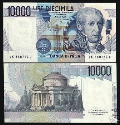 ITALY 10000 10,000 LIRE P112 D 1984 VOLTA LAB EURO UNC ITALIAN MONEY BANK NOTE