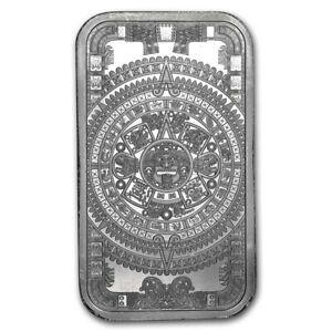 1 ~ OZ .999 SILVER ~ BU GEM ~ AZTEC CALANDER BAR ~ 1st  SERIES ~ $46.88 ~ SALE !