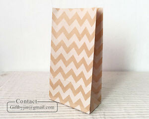 Kraft Brown paper buffet goody gift bags_Wedding Party Favor Treat Stand up bags