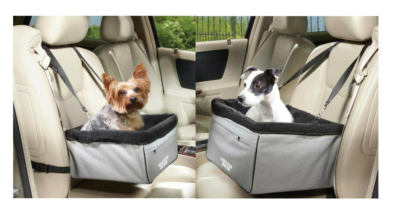 Elevated Car Seats for Dogs Sightseer II Raised Travel Dog Vehicle Seat & Bag