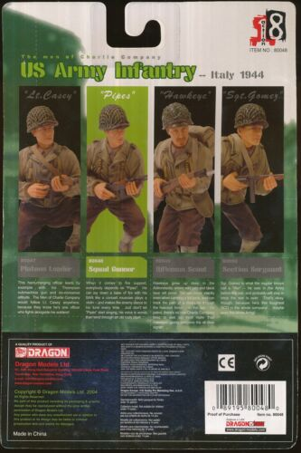 2004 Dragon Models Action 8 Squad Gunner Army Italie 1944 3 1/2   2004 Dragon Models Action 8 Squad Gunner Army Italy 1944 3 1/2