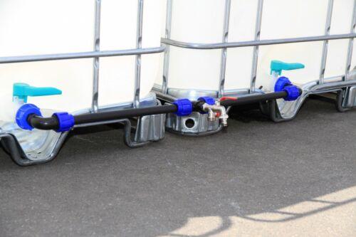 Verbindungsset für 2 IBC Wassertanks mit 2 IBC Anschlüssen - TOP-QUALITÄT #2011