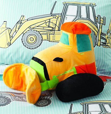 Hiccups Bulldozer Cushion - Children's Large Soft Plush Stuffed Toy For Kids