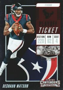 Cheap 2018 Panini Contenders Playoff Ticket #60 Deshaun Watson 009175  for cheap