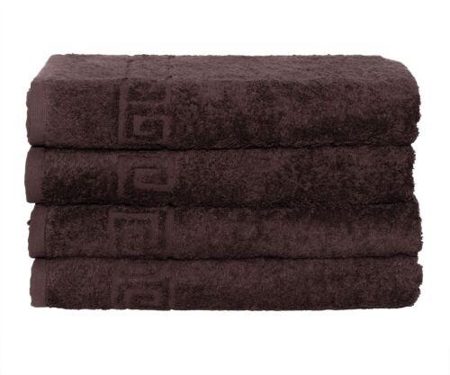 Bath Towel Cotton Set 4 Pcs Towels 28x56 Inch 500GSM Extra Soft Absorbent Contex