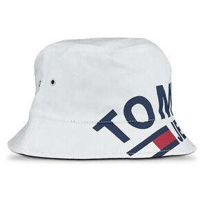 8bdd7783c Tommy Hilfiger Hat - Tommy Jeans Bucket Hat - White - AU0AU0060 ...