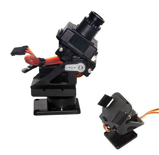 Pan/Tilt Camera Platform Kit Anti-Vibration Camera Mount for Aircraft NO SERVO