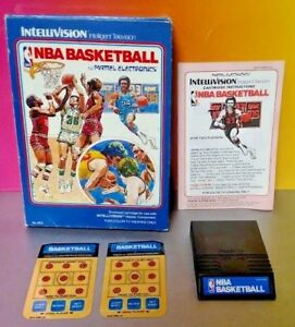 NBA-Basketball-Intellivision-Cartridge-Box-Manual-Tested-Compl