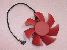 75mm XFX ATI HD5850 HD5870 Video Card Fan Replacement 39mm 4Pin FD8025U12S 0.48A