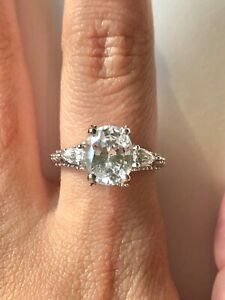 Details about  /Cute .75 CTW Princess /& Round Clear CZ Fancy Halo Style 925 Silver Ring Size 7