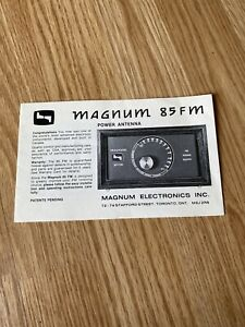 ford power antenna schematic magnum 85 fm power antenna original equipment manual insert ebay  magnum 85 fm power antenna original