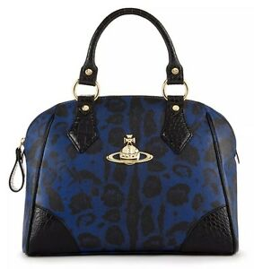 VIVIENNE-WESTWOOD-Handbag-New-SHIP-FREE-Jungle-Leopard-PURSE-Made-in-ITALY