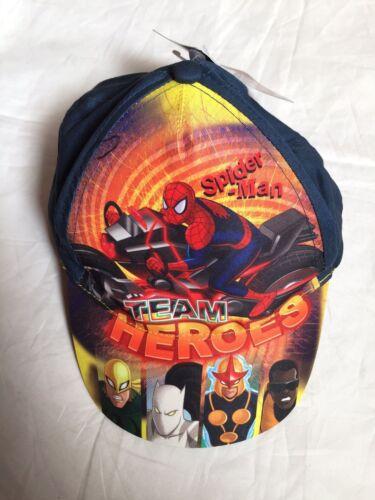 New Marvel Spiderman Team Heroes Childrens Boy Summer Hat Cap 54cm Orange