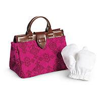 American Girl Samantha Travel Bag Set For 18 Dolls Gloves Accessories Purse