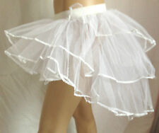 NEW BURLESQUE BUSTLE SHOWGIRL HEN NIGHT PARTY WHITE
