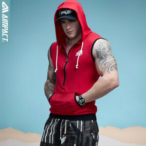 Official Website Aimpact Camo Cotton Gym Sleeveless Hoodies For Men Muscle Workout Tank Top Shirt Activewear Men's Clothing