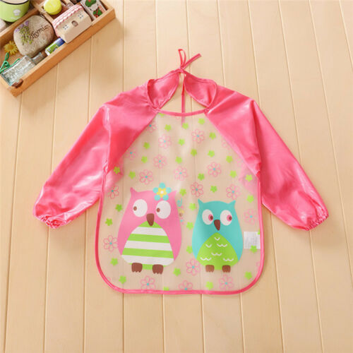 Waterproof Long Sleeve Baby Kids Bibs Children Feeding Saliva Towel Smock Apron