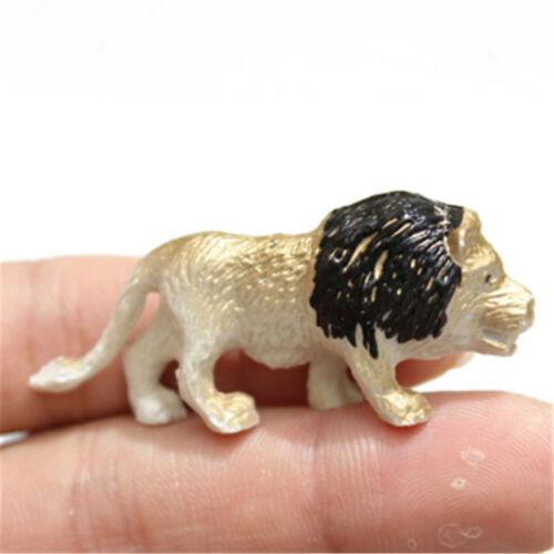 8PCS Plastic Zoo Animal Figure Tiger Leopard Hippo Kids Animal Toys Kids Gif NJH