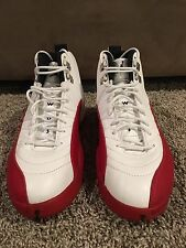 1997 Nike Air Jordan XII White Varsity Cherry Red 130690-161 Sz 12 Original OG