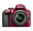 Nikon D D3300 24.2MP Digital SLR Camera - Red (Kit w/ AF-S DX VR II 18-55mm Lens)