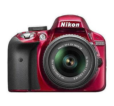 Nikon D Series D3300 24.2 MP Digital SLR Camera - Red (Kit w/ AF-S 18-55mm lens)
