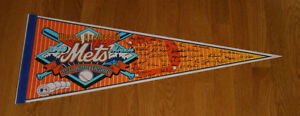 1969-New-York-Mets-25th-Anniversary-signature-pennant-World-Series-Miracle-Mets