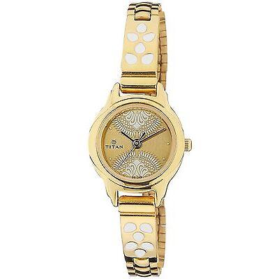Titan Dark Cream Dial Watch For Women - 2401YM04