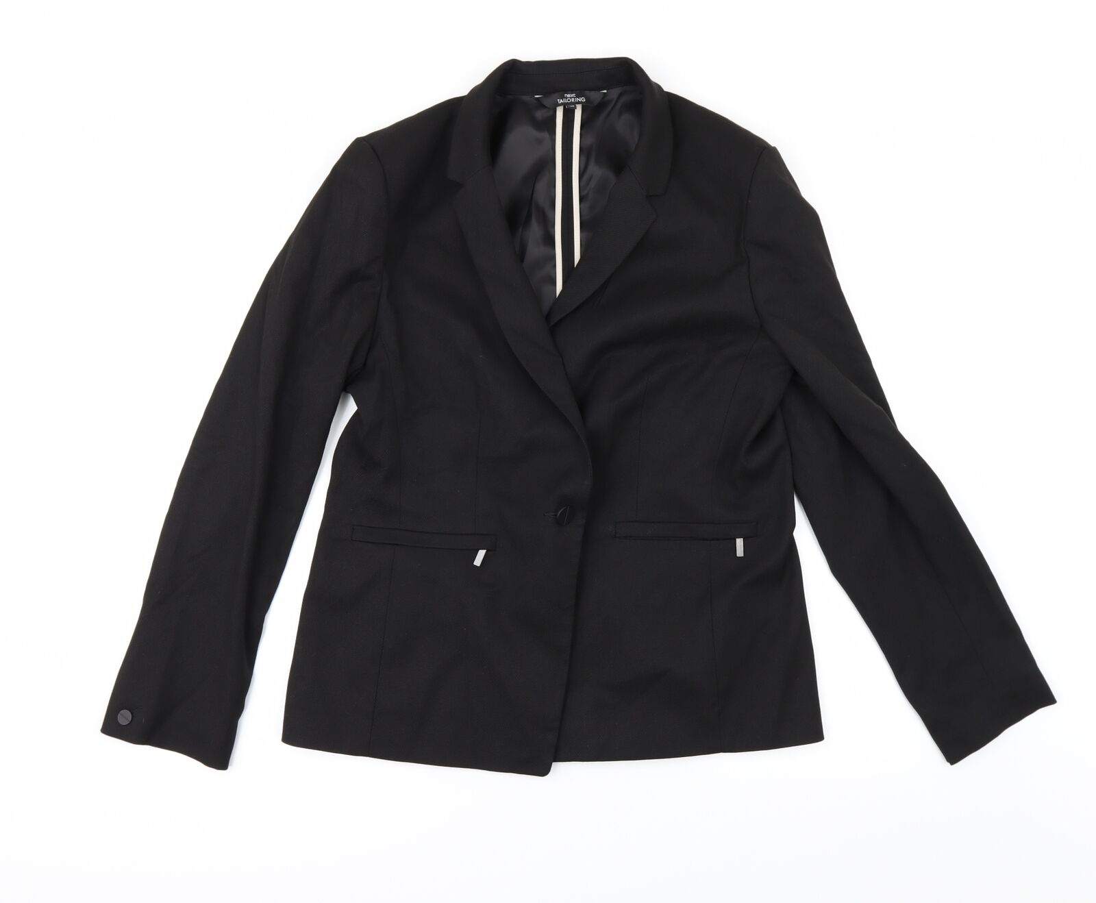 NEXT Womens Black Jacket Suit Jacket Size 16