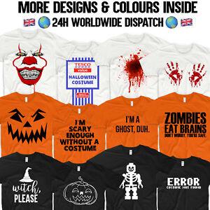 Halloween-T-Shirt-Costume-Pumpkin-Lego-Skeleton-Blood-Hands-Tesco-Value-Ghost