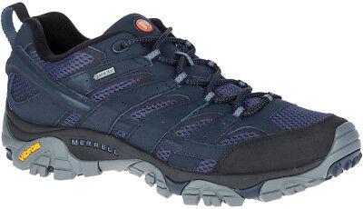 Bellissimo Merrell Moab 2 Gore-tex Scarpe Da Camminata Da Uomo-blu Scuro-